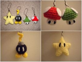 Crochet Super Mario Keychains by katrivsor