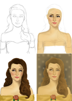 Emmy Rossum as Belle - Step by Step by kt-grace