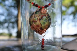 World of Warcraft Blood Elf Mage Necklace by TiellaNicole