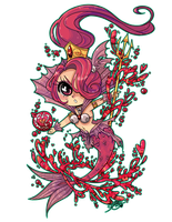 summoner's war :: platy the fire mermaid by visiface
