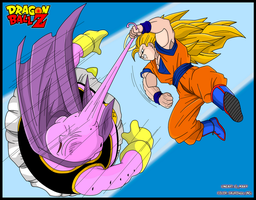Majin Bu VS Goku by Sauron88