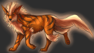 Pkmn: Arcanine by Onyxwings