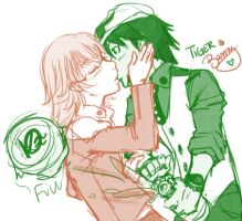 Tiger n Bunny - Champagne kiss by Obliquo
