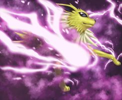 Jolteon used Thunderbolt by Divinehearts