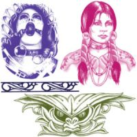 Various Tattoo brush set IV by noema-13