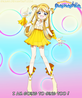 Mermaid Melody OC - Chiara's singer form by TheMiiko