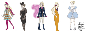 Luna Lovegood Fashion Designs by wondernez