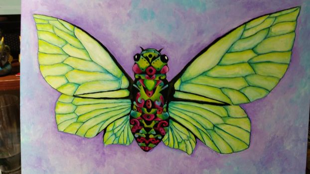Cicada Dream WIP Painting by tanyadavisart