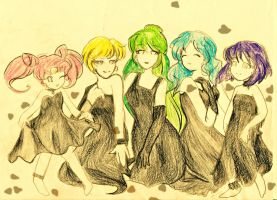 Colorful Outer Senshi by Sparklycupcake23