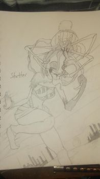 Shatter sketch 4 by Fluffynails