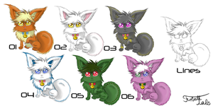 First batch of FREE Adoptables [closed] by FurBallLaboratories