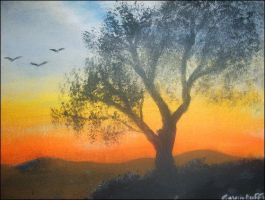 Landscape acryllic painting by nirvana0506