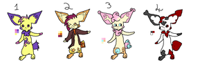 Pichu Adopts by mindlessIdeologist