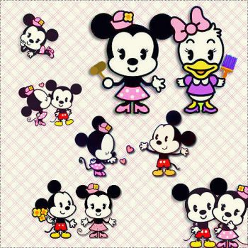 Minnie and Mickey Png by JamilexChocOlatina
