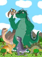 Godzilla on Dinosaur Island by MCsaurus