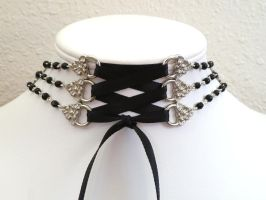 Beaded Corset Choker by Lincey