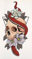 Skull tattoo commission by DannyFilth01