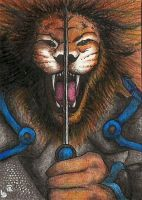 ACEO: Lets fight! by FieryGabreilla