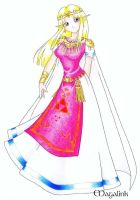 Zelda in her Royal Dress-lttp by Maga-Link