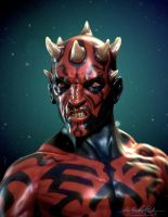 Darth Maul Speedsculpt by MitchGrave