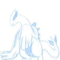 Lugia Doodle by SheaTheDestroyer
