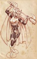 Big Barda sketch. by dichiara