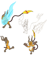 More Mega-Raichu by Assassin-VariableX