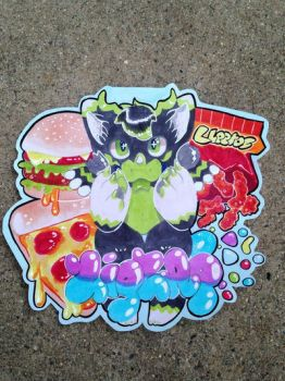 Favorite Food Badge by bootiehole