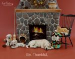 Be thankful miniature aninal sculptures by Pajutee
