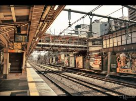 Harajuku train station by Pajunen