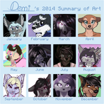 Demi's 2014 Art Summary by DemiTheAwwesome