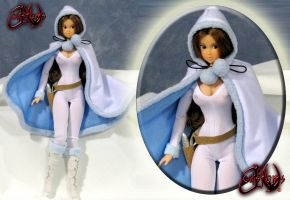 Padme Amidala Hooded Snow Bunny Ilum OOAK Doll by jvcustoms