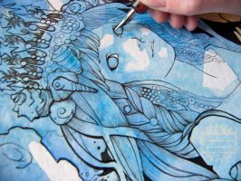 A Queen in Blue - Work in progress by nati