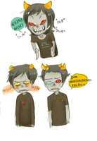 Terezi is freaky by Costly