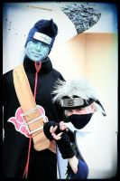 Kisame and Kakashi by SanetomoIjuin