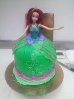 Ariel Dress Cake by Juno-Gemini