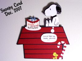 Snoopy Birthday Card by PunkBouncer