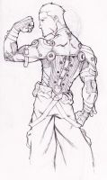 Ethan Galba, his a Elite Fist Member (back) by DrawlinesMisfits
