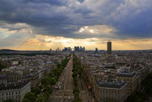 Paris cityscape by villekroger