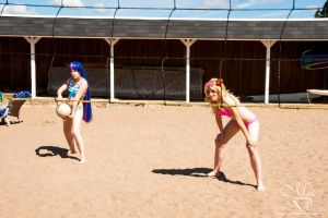 PASWG bikinis 1 - Beach volley time! by simakai