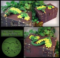 Green Phoenix on Steamer Chest by Tpryce
