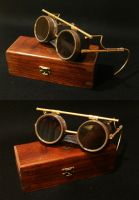 Steampunk - Goggles I by PseicoElectric
