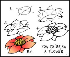 How To Draw A Flower Guide by DarylHobsonArtwork