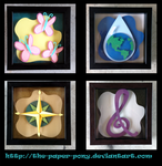 Commission: Cutie Marks Shadowboxes 8x8 by The-Paper-Pony