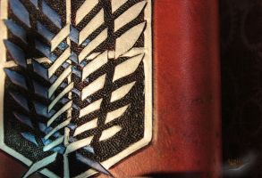 Survey Corp on Leather Detail by aGrimmDesign