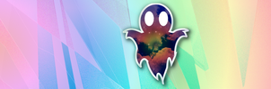 Psychedelic Background Ghostly Logo by GhostlyCatalyst