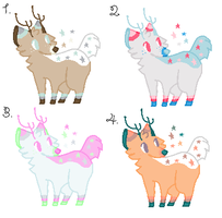 .:Deer Adopts 4:. {Closed} by Flovvers