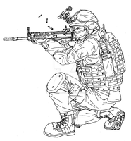 Suppressive Fire Lineart by thefirewarriors