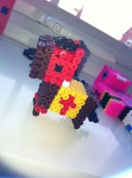 3d knights horse - perler beads by Rest-In-Pixels