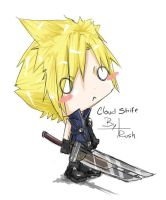 Chibi Cloud Thinking by Komi-xi